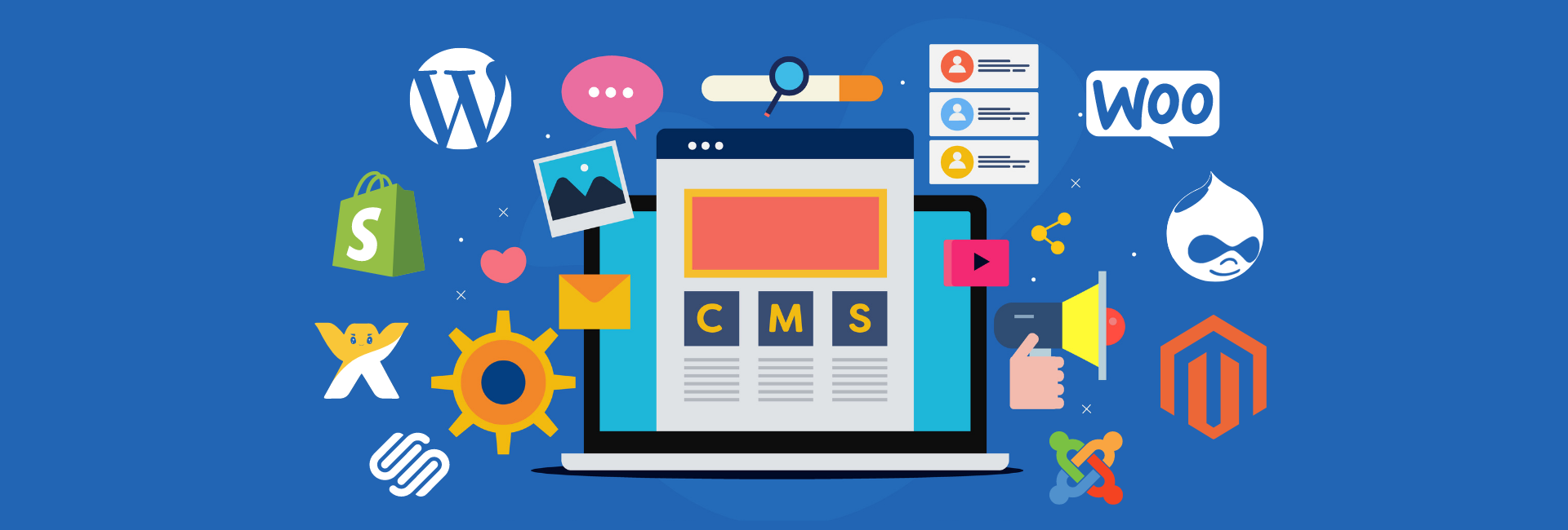 proven website design and development approach and process for WordPress, Shopify, Squarespace, WooCommerce, Wix, Joomla, Magento, Drupal, and more
